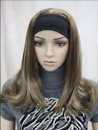 Blonde half wigs online shopping - WIG Fashion Light Brown Blonde Mixed women Daily half wig ETLG042 Hivision