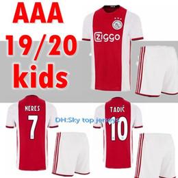 0f7bbb4c Ajax Jersey Kids UK - 2019 2020 Ajax kids kits soccer jersey red 19 20 van