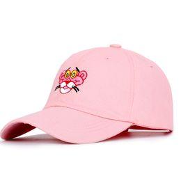 $enCountryForm.capitalKeyWord Australia - New Fashion Cartoon Embroidered Baseball Cap Trend Brand Hip Hop Hat Man Woman Pink Panther High Quality Adjustable Bone