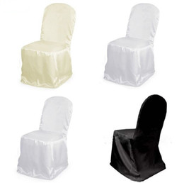 $enCountryForm.capitalKeyWord UK - Satin Chair Cover for Wedding Banquet Party Annual Supplies Dinner Decoration Wholesales Black White Beige