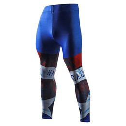 men full bodysuit UK - Iron man fall sports bodysuit combo marvel leggings 3D printed casual pants trendy men's long Johns