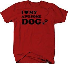 $enCountryForm.capitalKeyWord Australia - I Love My Awesome Dog Pet Paw Prints Color T-Shirt suit hat pink t-shirt