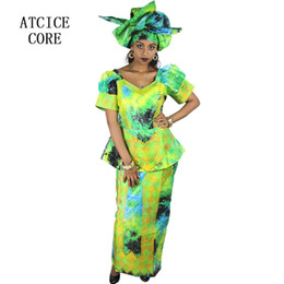 EmbroidEry african clothEs online shopping - african dresses for women COTTON NEW AFRICAN FASHION DEISGN BAIZN RICHE EMBROIDERY clothes DP126