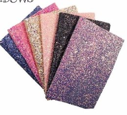 $enCountryForm.capitalKeyWord UK - 22CM*30CM Glitter Synthetic Leather Fabrics Glitter Fabric Party Wedding Decoration DIY Hairbows Materials