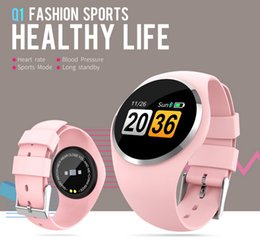 Wholesale Q1 Lady Smart Watch Women IP67 Waterproof Smart Bracelet Heart Rate Fitness Tracker Smart Band Wristwatch Sports Women Watch