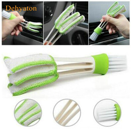 vent brush wholesale Canada - Dehyaton Car Diy New Plastic Car Air Conditioning Vent Blinds Cleaning Brush For Series Part Accessories