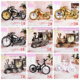 Creative Motorcycle Alarm Clock Cool Motorcycle Alarm Clock Retro Clocks Gift Fashion Personality Home Placement Decoration VT0923 on Sale