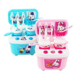 Girls Kitchen Play Set Australia - 16pcs set Child Tablewares Kitchen Utensils Toys Plastic Kitchen Replica Toys for Boys Girls Cooking Playing House Tools