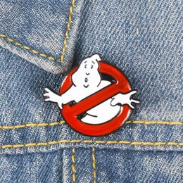 $enCountryForm.capitalKeyWord Australia - Ghostbusters Enamel Pin White Ghost Designer Brooches Clothes Lapel Luxury Brooches Cartoon Movie Jewelry Gift Special Offer