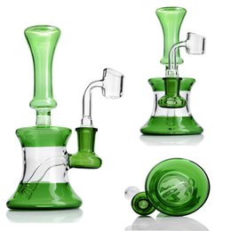$enCountryForm.capitalKeyWord Australia - 7.1 inchs Small Bong Recycler Oil Rigs Thick Glass Water Bongs Smoking Glass Waterpipes Heady Glass Bubbler With 14mm Banger Hookahs