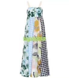 $enCountryForm.capitalKeyWord UK - women girls slip dress watercolor flowers patchwork plaid sleeveless pleated long a-line trumpet midi skirt high end fashion luxury dresses