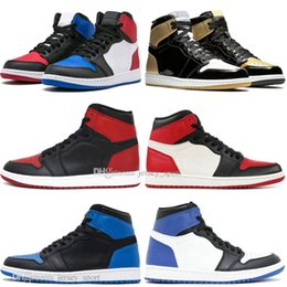 Box Spiders Australia - With Box Hot Sale 1 OG Banned Bred Toe Spider-Man UNC 1s top 3 Mens Basketball Shoes Homage To Home Royal Blue Men Sports Designer Sneakers