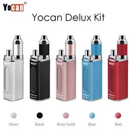 Discount mini box mods - Original Yocan DeLux Kit Vape Mod Kits 1500mAh Box Mod Power Bank Plus 450mAh Mini Box Mod for Wax and Oil E Cigarette