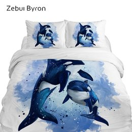 animal print queen quilt covers UK - 3D Cartoon Kids Bedding sets,bed Set King Queen Size,baby Children duvet cover set ,Blanket Quilt Cover Animal whale