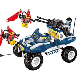 $enCountryForm.capitalKeyWord Australia - 356pcs Children's Educational Building Blocks Toy Compatible City Police Series Flying Tigers Dispatched Chariot Bricks MX190731