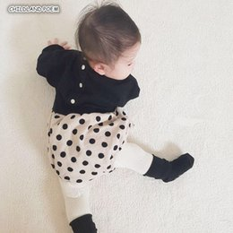 boys black rompers Australia - Baby Rompers Girls Jumpsuit Spring newborn Baby Girls Boys Clothes Long Sleeve Dot Plaid Infant Baby Jumpsuit With HeadbandMX190912