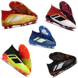 $enCountryForm.capitalKeyWord Australia - Top Quality Original Predator 18.1 Mens FG Football Boots For Men Techfit Laceless High Ankle Soccer Cleats Trainers Designer Soccer Shoes