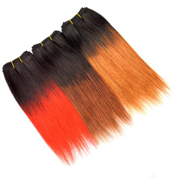 China 8 Inch Brazilian Straight Hair Weave Short Ombre Bobs Weaves T1b Red 33 30 Straight Virgin Hair 4 Bundles Sew In Human Hair supplier hair weaving sewing machine suppliers