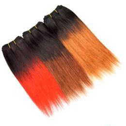 $enCountryForm.capitalKeyWord Australia - 8 Inch Brazilian Straight Hair Weave Short Ombre Bobs Weaves T1b Red 33 30 Straight Virgin Hair 4 Bundles Sew In Human Hair