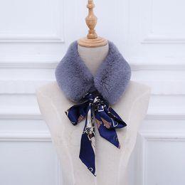 Fur Scarf Wholesaler Australia - Korean style rabbit plush scarf female autumn and winter fashion warm imitation fur soft sister collar fur hair collar