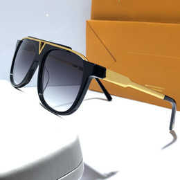MASCOT Sunglasses Luxury Popular Retro Vintage Z0936E Men Designer Sunglasses Shiny Gold Summer Style Laser Logo Gold Plated Come With Case on Sale
