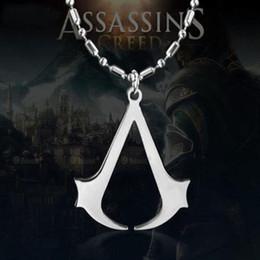 $enCountryForm.capitalKeyWord Australia - Assassins Creed Ezio Titanium Alloy Pendant Necklace Stainless Steel Pendant Necklace For Men Women