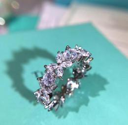 $enCountryForm.capitalKeyWord Australia - Woman Wedding Engagement jewelry S925 sterling silver Inlaid water drop zircon lace diamond ring famous Luxury Designer T Jewelry gift
