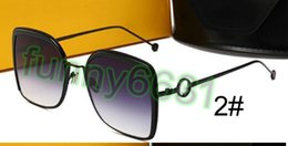 Blue colour sunglasses online shopping - MOQ woman driving Sunglasses brand Design metal Sunglasses man Dazzle colour Sun glasses beach sun glasses UV protection FREE SHIP