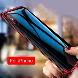Iphone Cases Soft Silicon Blue Australia - Fashionable Laser Electroplated Phone Soft Case Silicon TPU Transparent Mobile Phone Protective Cover Case Shell For iPhone X XR