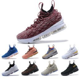 lebron basketball shoes size NZ - luxury High Quality Newest Ghost Lebron 15 Basketball Shoes Arrival Sneakers Mens sports 15s Basketball Shoes Size 7-12