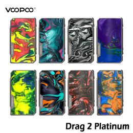 Discount box mod tc - VOOPOO Drag 2 Platinum Mod 177W TC Box Battery Innovative FIT Mode Powered by Dual 18650 Eletronic Cigarettes Drag2 Box