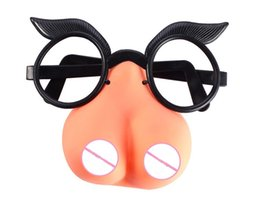 hen party props NZ - Hen Party Decoration Supplies Penis breast Glasses Funny Long Nose Party props Halloween Decorations Prop Carnival