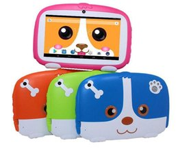"android child tablet Australia - Kids Brand Tablet PC 7"" 7 inch Quad Core children Cute cartoon dog tablet Android 4.4 Allwinner A33 google player 512MB RAM 8GB ROM 10pcs"