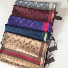 $enCountryForm.capitalKeyWord Australia - New luxury men's and women's scarves designer woollen cotton yarn-dyed shawl 180x70cm warm soft fashion shawl scarf