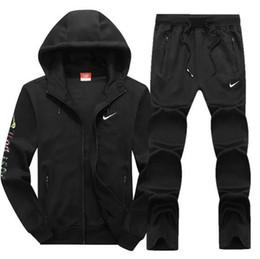 Best tracksuit man online shopping - hooded jogging suit Best Version Spring Autumn Mens Designer Tracksuits Print Zipper Suit Tops Pants Mens Casual Sweatshirt Sport Suits