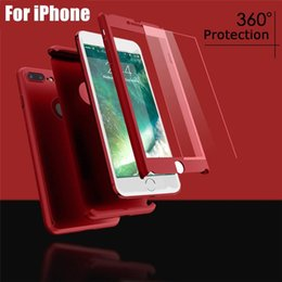 $enCountryForm.capitalKeyWord Australia - 360 Degree Full-covered Phone Case 7 Colors With Tempered Glass Hard PC Front Back Cover Full Body Coveraged Shell For iphone X XR XS Max