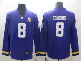 Men Women Vikings Minnesota 19 Adam Thielen Jersey 8 Kirk Cousins Therma  American Football Long Sleeve Jersey 69c188ffd
