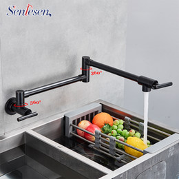 $enCountryForm.capitalKeyWord NZ - Senlesen Kitchen Faucet Brass Pot Filler Tap Wall Mounted Single Cold Single Hole Mixer Tap Rotate Folding Spout