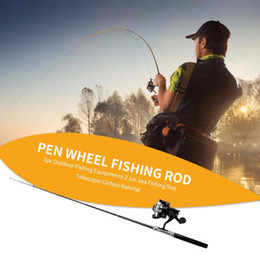 wholesale gadget pens Australia - New 1m Mini Spinning Fishing Rod Exquisite Work Pen Shaped Pocket Pole with Reel Portable Outdoor Fishing Gadgets