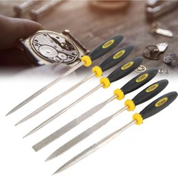 $enCountryForm.capitalKeyWord NZ - Professional 6PCS Handheld Metal Files Watch Repairing polishing carving Accessory Watch Fixing Tool Needle Files for Watchmaker