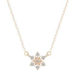 Necklaces Pendants Australia - 10pcs lot New Women Pendant Necklace simple cute sweet Jewelry snow snowflake winter wonderland christmas snow flakes Free Shipping KKA6211