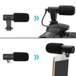 iphone camcorder UK - Stereo Camcorder Microphone DSLR Camera Microfone For Nikon Canon Sony Samsung DSLR Camera For Xiaomi 8 iphone X