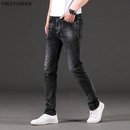 44 Pants Australia - New 2019 Plus Size 44 46 Pure Color Straight Denim Pencil Pants Male Brand Jeans Men Jeans Homme