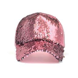 $enCountryForm.capitalKeyWord UK - New Fashion Casual Sequin Snapback Baseball Cap Adjustable Baseball Hat Women Summer Spring Black Pink Gold Caps Outdoor