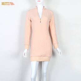 white bodycon sweater dress Australia - Fashion Dress Mini Zip Gv101 Up Zipper Autumn Sweater Sexy V Neck Knit Warm Bodycon Women Dress New Designer Clothes