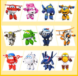 Super Airplane Action Figures Australia - 100% Brand Big 15CM ABS Super Wings Toys Deformation Airplanes Transformation robot Action Figures Toys For Christmas gift