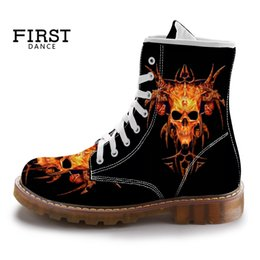 $enCountryForm.capitalKeyWord NZ - Spring Custom Girls Martin Boots Printing 3D Images Canvas Lace Up High Top Shoes Oxford Casual Women's Footwear Black 35-45