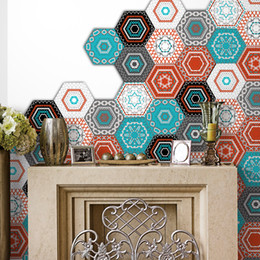 $enCountryForm.capitalKeyWord UK - Home Decor Living Room DIY Mural Non Slip Removable Floor Sticker Hexagon Wall Sticker PVC Self Adhesive Waterproof Ground Stickers Decal