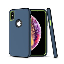 Matte Gold Iphone Case Australia - Matte Hybrid Defender Phone Case For iPhone X XS Max XR 6 8 7 Plus Protective Rugged 3in1 Soft TPU PC Bumper Cover