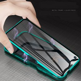 Huawei Honor casing online shopping - Magnetic Adsorption Full Tempered Glass Flip Case For Huawei Honor Pro Honor20 P30 Pro Mate Pro mate20 P20 A70 A50